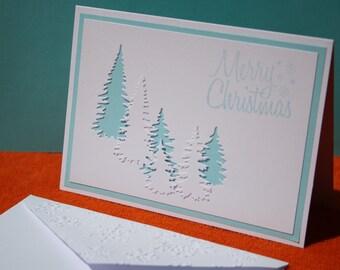 Handmade Christmas Card, Happy Holidays Card, Seasons Greetings Card,
