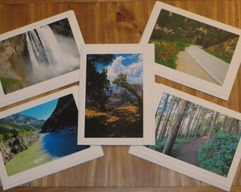 Blank Photo Note Cards, Landscape Cards, Photo Greeting Cards, Landscape Photography, All Occasion Cards, Set of 5 Cards, Gift