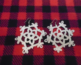 "Crocheted Earrings ""Snowflakes"""