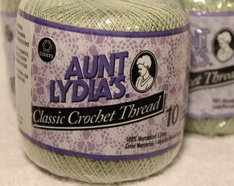 Aunt Lydia's Classic Cotton Crochet Thread ~ Size 10 ~ Coats & Clark~ Machine Washable ~ Doilies ~ Tablecloths ~ Bedspreads ~ Apparel ~