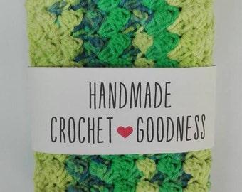 2 pcs Crocheted Dishcloths, Washcloths / Crochet Textured Dishcloth, Washcloth