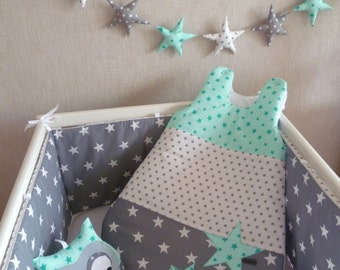 Bumper and sleeping bag PATCHWORK Mint