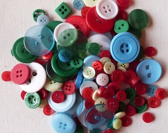 40 buttons in sewing, scrapbooking 0.8 mix / 2.8 cm Christmas