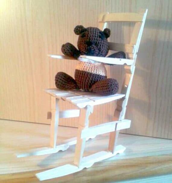 Rocking Chair With Teddy Bear Amigurumi By SabrinaDesignStore