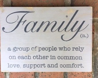 Family | Wood Sign | Painted Wood Sign | Home Decor | Wall Decor | Home