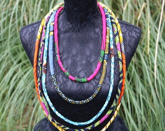Multistrand Ankara Necklace