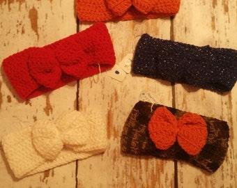 Kids Crochet Ear Warmer with Bow