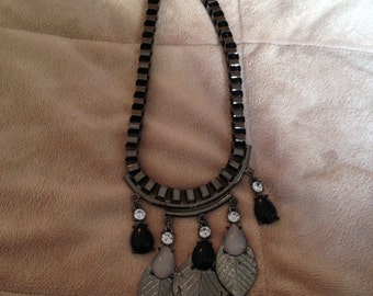 Vintage Gothic Tribal Chunky Necklace