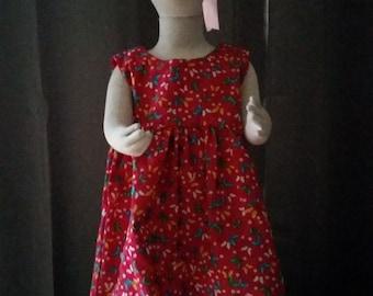 Size 1 Fuchsia floral cotton dress