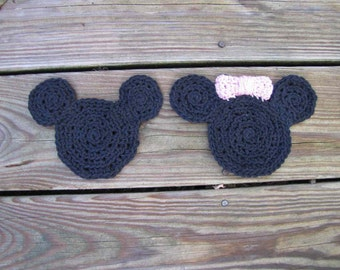 Mickey and Minnie coasters