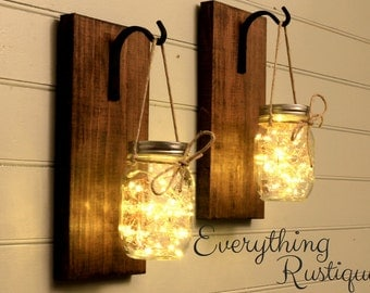 Superieur Mason Jar Decor, Mason Jar Lanterns, Mason Jar Rustic Decor, Mason Jar  Lights