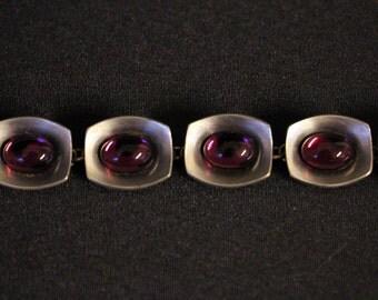 Jorgen Jensen bracelet, Pewter 220A, Mid Century, Cabachon, Tin * free shipping *