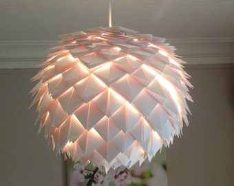 Suspension/white/ecru paper lamp
