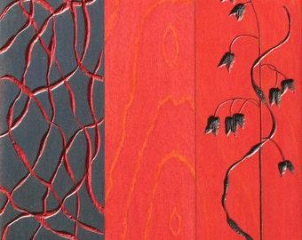 Rattlesnake Grass I (Carved Painting)
