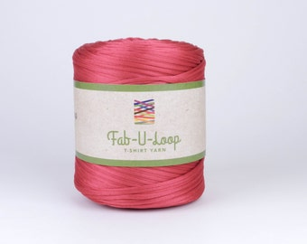 "T-Shirt Yarn - ""Runner's Red""  ~160 yards, 130 m"