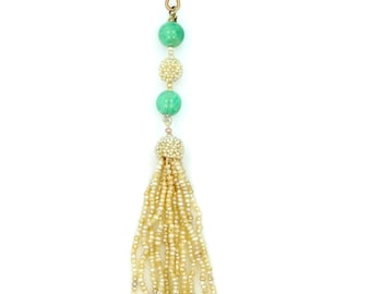 Victorian Seed Pearls 14k Gold Pendant