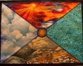 Reserved for Tammara Mythala: 4 Directions 4 Elements; Mandala...Myth...Mythala (May use as Wall Hanging, Altar Cloth, Prayer, Sacred Art)