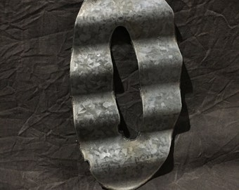 0 - Recycled Antique Roofing Tin Number by JunkFX