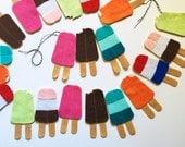 Popsicle Felt Garland | Summer Mantle | Kids Room | Party Decor | Photo Prop | Custom Colors