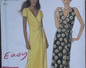 New Look 6861 Easy Midi WRAP DRESS Sewing Pattern // Sizes 6 8 10 12 14 16 18 UNCUT