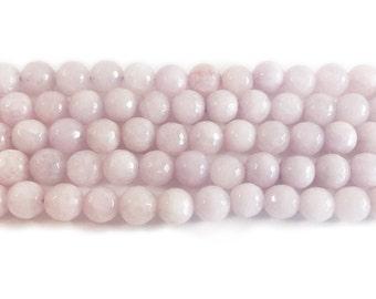 Pale Purple Jade Faceted Gemstone Beads