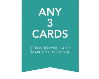 Great Savings Deal - 3 Card Draw: Pick Any 3 Cards for 12 Bucks