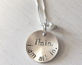Stamped Sterling Silver I'm In I Am All In Gilmore Girls Necklace