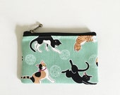 mini zipper pouch  -Relax cats