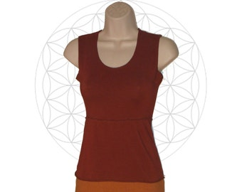 Organic Cotton and Bamboo Tank Top - Handmade and dyed to order