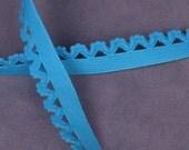 5 yds Bright Blue Decorative Edge Elastic (E02BL2-5)