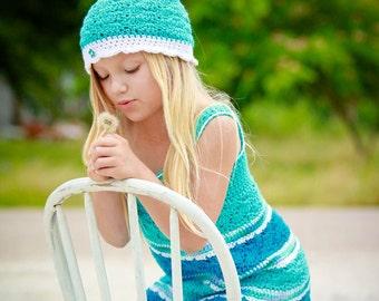 Seaside Girl Sundress Crochet Pattern - Sizes 2T - Girls Size 12