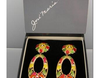 José Maria Barrera for Avon Fashion Flower CLIP earrings