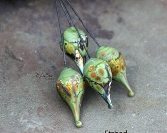 Amazon - Handmade Lampwork Glass HeadPins - SRA Elasia MTO - New Shapes!