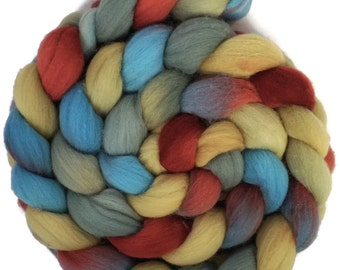 Handpainted Targhee Wool Roving - 4 oz. VINTAGE - Spinning Fiber