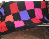 Cashmere Blanket . checkerboard blanket . checkerboard cashmere throw . cancer quilt . recovering patient blanket