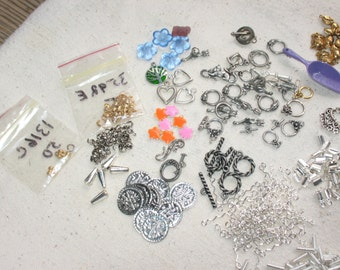 Destash lot findings. Lots of toggle clasps, french wires, and more!