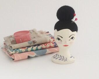 Ceramic Gentlewoman Pincushion no. 13