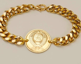 Soviet Union Coin Bracelet 1989