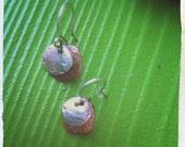 Sterling Copper Drop Earrings