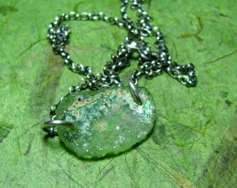 Ancient Sea - Ancient Roman Glass and Sterling Silver Necklace