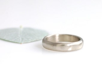 Simplicity Wedding Ring - Palladium/Silver Alloy Wedding Band - 4mm - made to order wedding ring in recycled metal