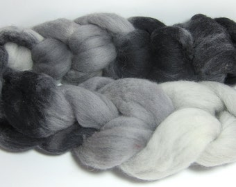 Roving Corriedale Blend 100% Wool colorway, Tabby Cat!