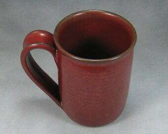 Pottery Coffee Mug 16 Ounce Red Ceramic Coffee Mug Coffee Cup Hand Thrown Stoneware Pottery 19