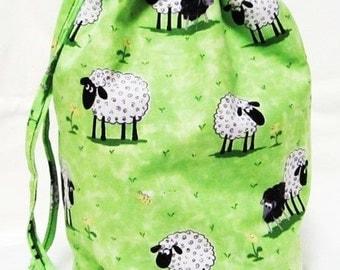 Small Knitting Project Bag - Lewe the Ewe