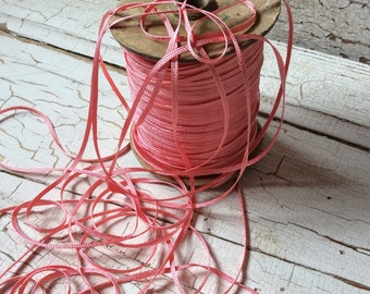 Pink Satiny Trimming/Narron Delicate Ribbon 10 yards