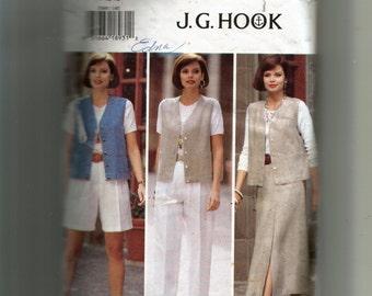 Butterick Misses' Vest, Skirt, Shorts and Pants Pattern 3369