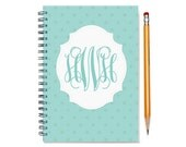 18 month planner with monogram, Start any month, 2016 personalized weekly planner, 2016-2017 18 month customizable planner, SKU: epi dot m