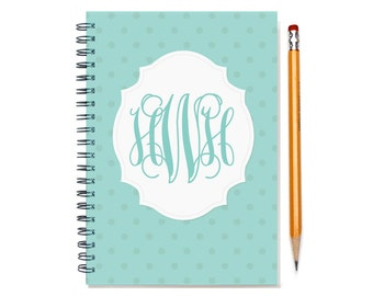 2017 2018 18 month planner with monogram, Start any month, 2017 personalized weekly planner, month customizable planner, SKU: epi dot m