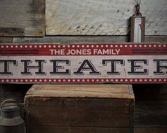 theater wood sign home theater decor movie lover sign movie room decor - Home Theater Decor