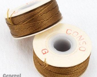 Light Brown Conso Nylon Size G Thread #CDD014